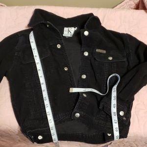 Toddler large corduroy calvin Klein snap jacket